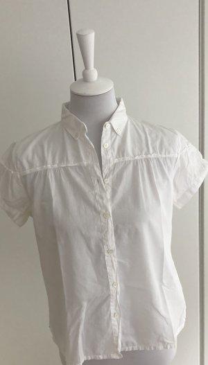 Romantische weiße kurzärmelige Bluse von Gant