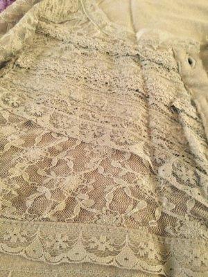 romantischen kleid von cream mit spitze s beige neuw.