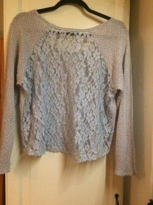 Pull en crochet multicolore coton