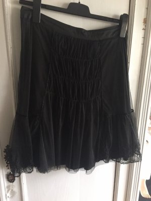 Noa Noa Falda de encaje negro