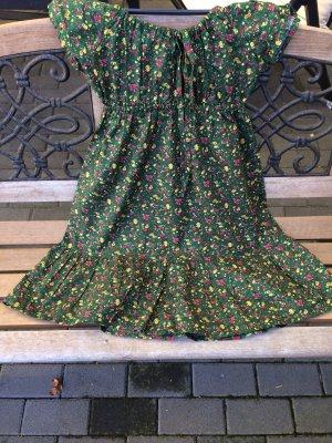 Midi-jurk veelkleurig Katoen