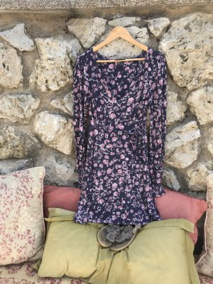 Warehouse Robe bleu-rose clair