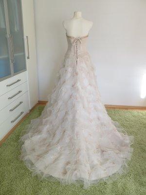 Robe de mariée beige clair fibre synthétique