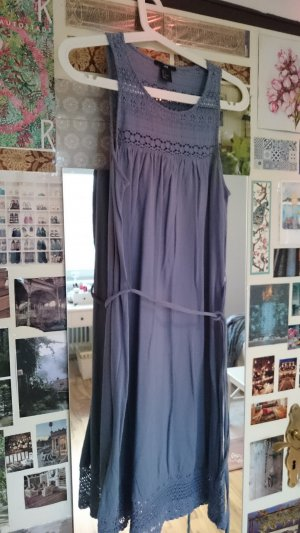 H&M Empire Dress mauve-purple cotton