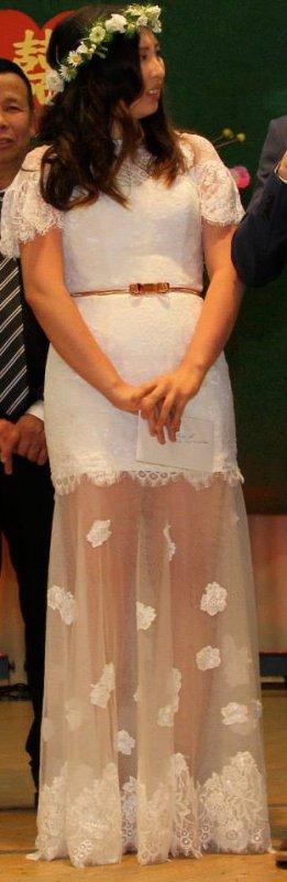 romantisches Hochzeitskleid Spitzenkleid