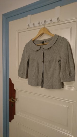 H&M Short Sleeve Knitted Jacket light grey