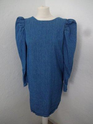 Zara Abito denim blu Cotone