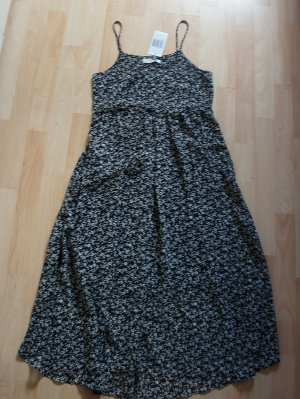 Mango Midi-jurk wit-zwart Polyester