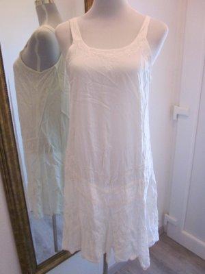 Romantisches Kleid weiss baumwolle Spitze Gr L