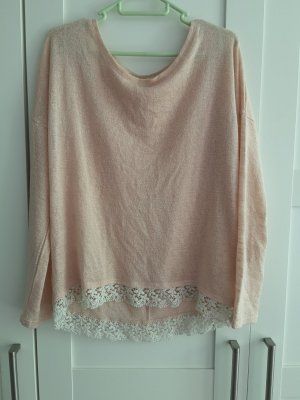 Yessica Camisa larga blanco-rosa