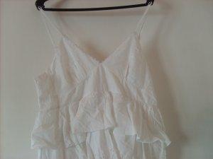 Volante jurk wit Katoen