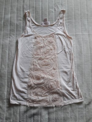 H&M Garden Collection Frill Top pink cotton
