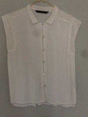 Romantisches weißes Hemd, Sommer, Hippie, handmade Elemente