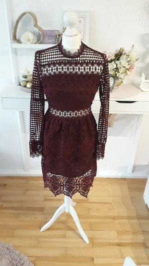 Romeo & Juliet Couture Kanten jurk bordeaux