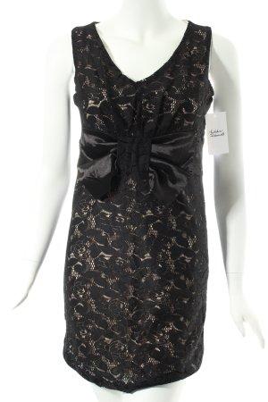 Romeo & Juliet Couture Abendkleid schwarz-creme Eleganz-Look