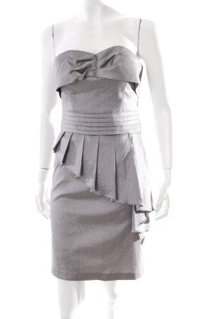 Romeo & Juliet Couture Bustierkleid silberfarben Metall-Optik