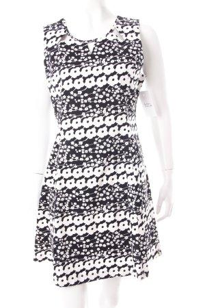 Romeo & Juliet Couture Etuikleid schwarz-weiß florales Muster