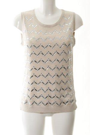 Romeo & Juliet Couture Cardigan en maille fine crème motif graphique élégant