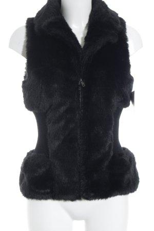 Romeo & Juliet Couture Vest van imitatiebont zwart casual uitstraling