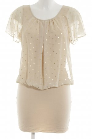 Romeo & Juliet Couture Kurzarmkleid Punktemuster Elegant