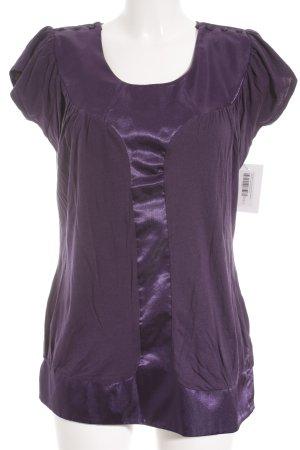 Romeo & Juliet Couture Longshirt dunkelviolett Casual-Look