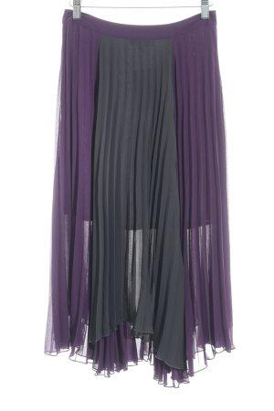 Romeo & Juliet Couture Maxirock lila-dunkelgrau Elegant
