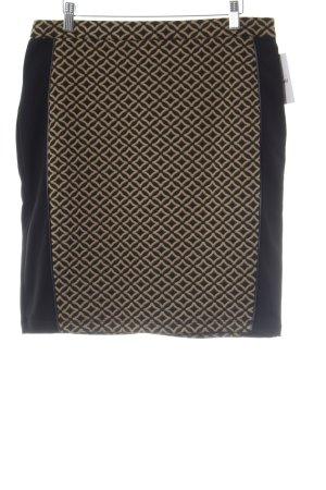 Romeo & Juliet Couture Minirock schwarz-sandbraun grafisches Muster Casual-Look