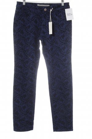 Romeo & Juliet Couture Drainpipe Trousers blue-black abstract pattern