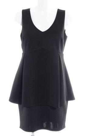 Romeo & Juliet Couture Vestido peplum negro elegante