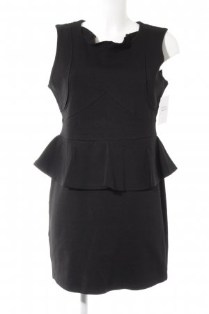 Romeo & Juliet Couture Vestido peplum negro estilo fiesta