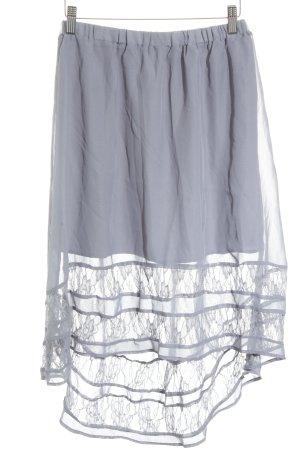 Romeo & Juliet Couture Spitzenrock grauviolett Romantik-Look