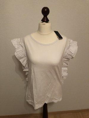 Romeo & Juliet Couture Top à volants blanc