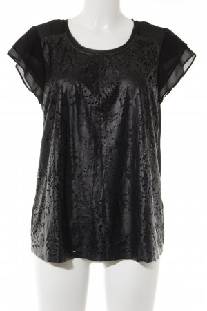 Romeo & Juliet Couture Trägertop schwarz Ornamentenmuster Casual-Look