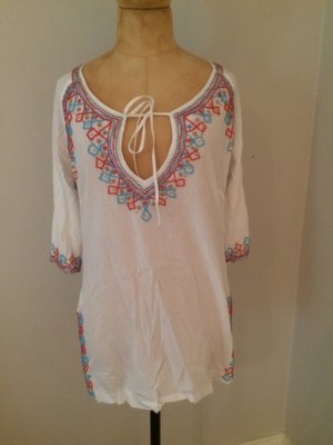 Romeo & Juliet Couture Tunic Blouse white cotton