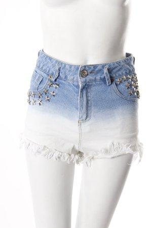 Romwe Jeansshorts mit Nieten