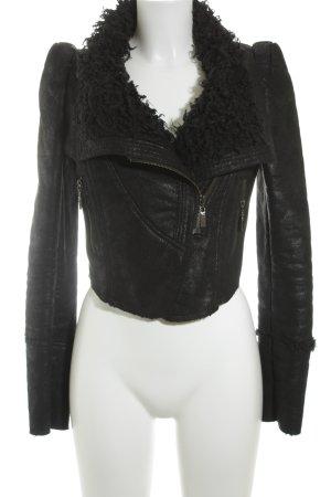 Romwe Kort jack zwart straat-mode uitstraling