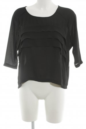 Romwe Oversized Shirt schwarz Street-Fashion-Look