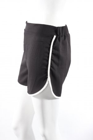 Romwe Shorts schwarz-weiß