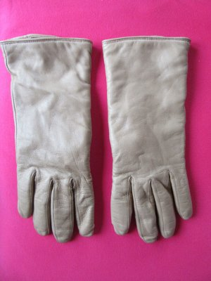 Roeckl Leather Gloves beige-oatmeal leather