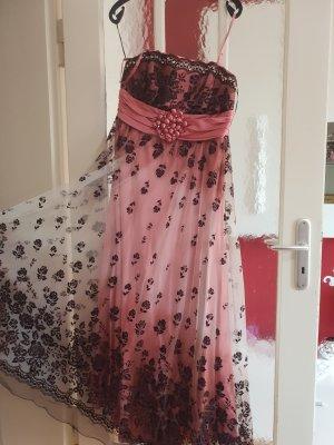 Robe de soirée noir-rose