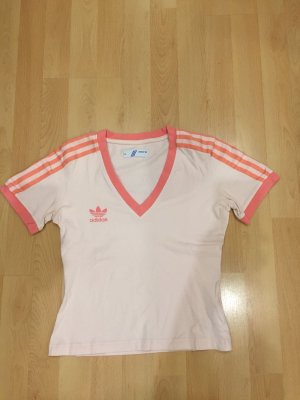 Rosa Adidas Shirt mit Streifen auf den Ärmeln