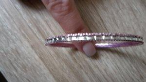 Bangle roze-zilver
