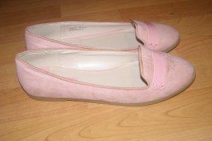 rosa Ballerinas mit Lackdetails