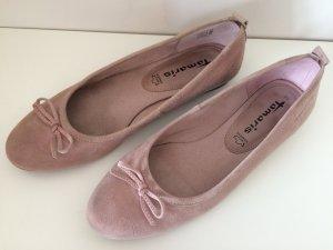 rosa Ballerinas, Tamaris, Gr. 39