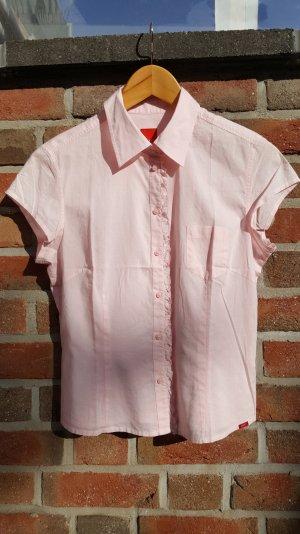 Rosa Basic Bluse mit Rüschen