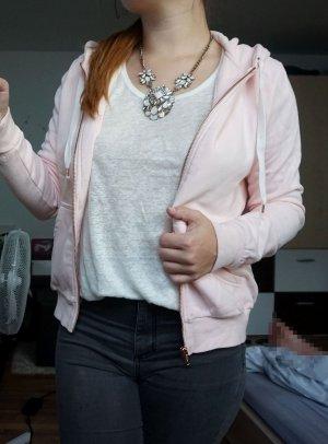 rosa Basic Kapuzenjacke
