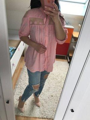 Rosa Baumwolle Hemd, Größe M