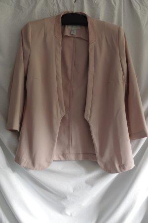 H&M Jersey blazer stoffig roze-rosé Polyester