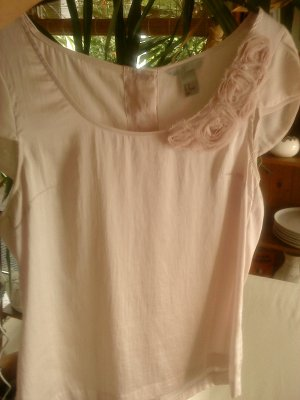H&M Glanzende blouse stoffig roze Polyester