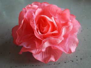 rosa Blume Brosche/Haarschmuck